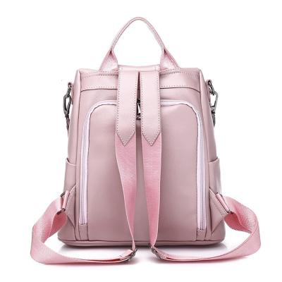 Female Travel Backpack PU Leather Outdoor Bagpack For Women Bow Decoration Anti Theft School Backpack Bags For Girls