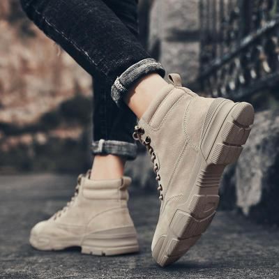 Casual High Top Men Boots Outdoor Comfortable Male Shoes New Retro Style Winter Warm Ankle Mens Snow Boots