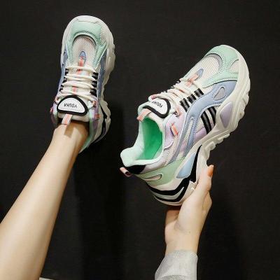 2020 Autumn Women Chunky Sneakers Platform Fashion Vulcanized Shoes Tenis Female Casual Sneaker Brand Woman Shoes Comfortable