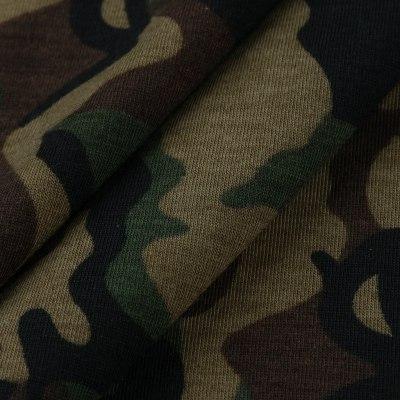 Women Hooded Camouflage Print Tops Irregula Hem Long Sleeve Casual Pullover Drawstring Loose Thin Sweatshirt Harajuku#Y3