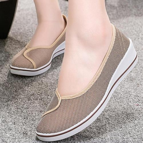 Flats women shoes platform shallow cotton nurse shoes soft non-slip casual style slip-on female shoes big size 4-9 flats