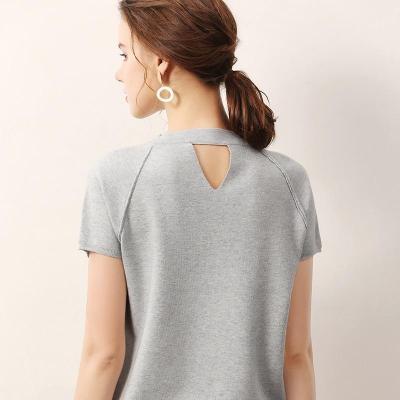 female knitting sweater short sleeves summer women's short pollover spring fashion soft tops
