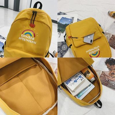 Print rainbow Cute backpack women school bags for teenage girls nylon kawaii backpack lady luxury fashion new female student bag