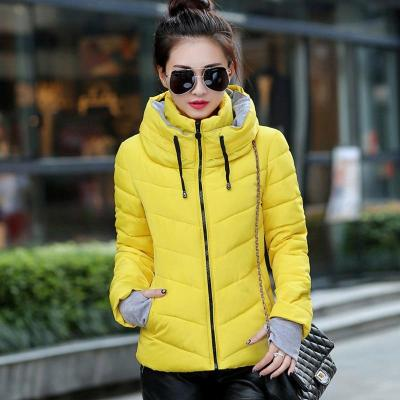 2020 Winter Jacket women Plus Size Womens Parkas Thicken Outerwear solid hooded Coats Short Female Slim Cotton padded basic tops