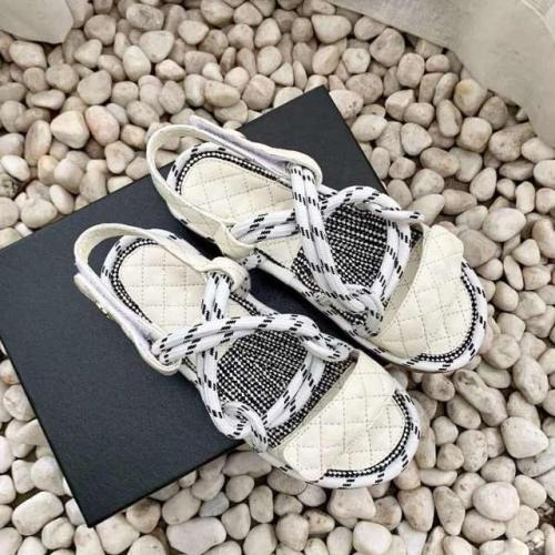 Summer Trendy Shoes 2020 Velcro Hemp Rope Rome Sandals Platform A- line Cross Flat Sandals for Women