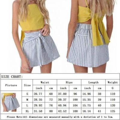 2020 New Summer Women's High Waist Stripe bandage Mini Skirt Beach Sexy Fashion Boho Casual Evening Party Skirts