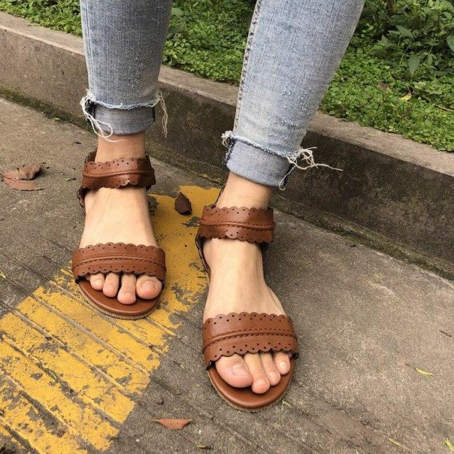 summer shoes women sandals 2020 new fashion casual flats shoes woman rome style sandalias zapatos mujer pu leather sandals women