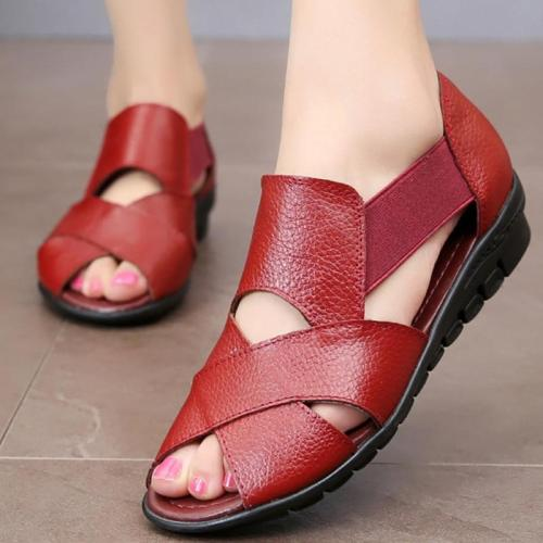 Large size 35-42 Ladies wedge sandals Shallow Non-slip Fashion Summer shoes women Soft Hard-wearing Sandals female