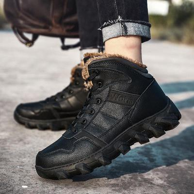 Fashion Super Warm Winter Shoes 2020 Men's Boots Outdoor Men Boots Casual Brand Snow Boots Keep Warm Ankle Boots Size 39-46