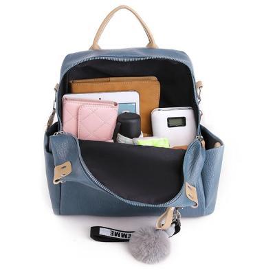Female PU Leather Travel Backpack Multifunction Shoulder-bag Mini Bagpack Girl's School Backpack For Girls Ladies Bags