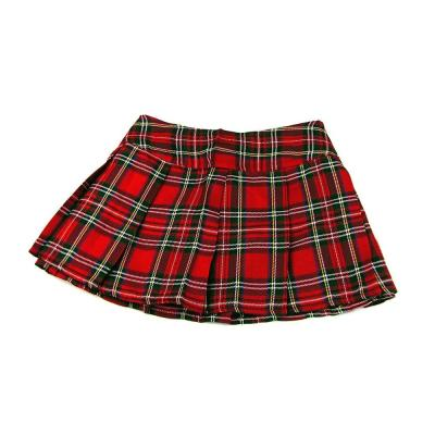 2020 Women Mini Plaid Skirt Sexy Short Pleated Skirts School Girl Sexy Zipper Skirt Student Costumes Valentine's Day present
