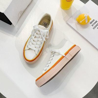 Fashion Flat Canvas Shoes Chunky Sneakers Tenis Female Platform Ulzzang Designers Woman Ladies Sports Casual Shoes 2020 Autumn