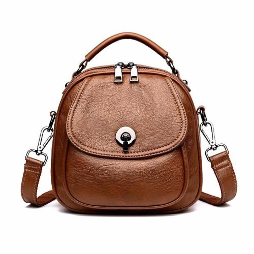2020 Multifunction Backpacks For Girls Mochila Feminina Women Leather Backpacks High Quality Preppy Style Small Bagpack Vintage