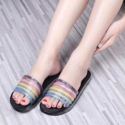Women Summer Sandals Ladies Light PVC Leather Colors Slipper Female Indoor Bathroom Non Slip Shoes Woman Platform Slippers