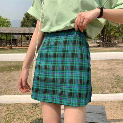 Women checked mini skirt plaid skirt summer beach vintage skirt retro spring short skirt girls 2020 new in
