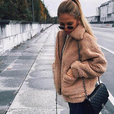 Autumn winter jacket female coat 2020 fashion korean style plus size women teddy fur coat female casual jacket woman pusheen
