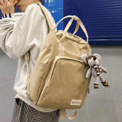 Female Student Nylon Backpack Cute Women School Bag Teenage Girl Kawaii Backpacks Mouse Harajuku Ladies Fashion Bags Luxury Book