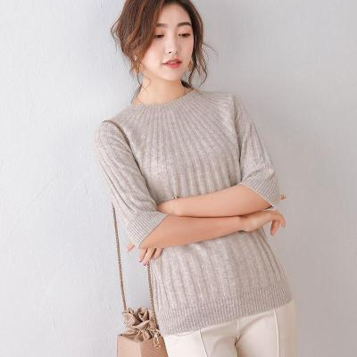 womens half sleeves sweaters spring wool pullover round neck umbrella shaped striped casual fashion girls  female sweater shirt