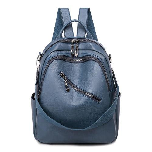PU Leather School Backpack Bags For Teenage Girls Female Ladies Travel Bagpack Large Capacity Women's Waterproof Backpack