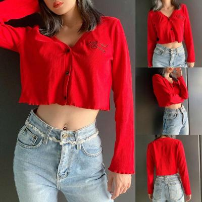 Womens Cardigans Kintted Long Sleeve Button up lightweight Short Sweaters Ladies Chunky Granddad Thin Casual Winter Clothes