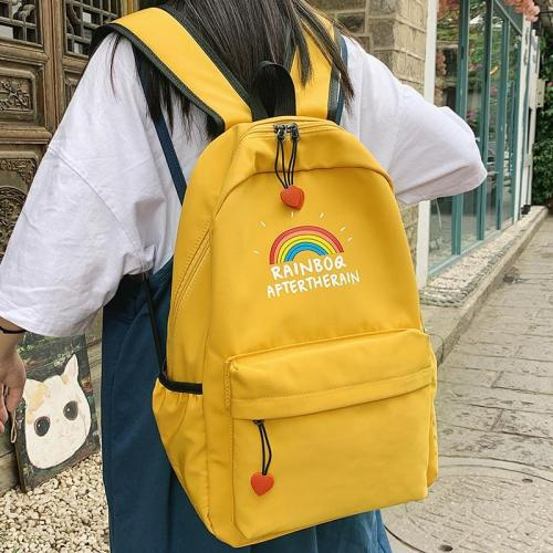 Print rainbow Cute backpack women school bags for teenage girls nylon kawaii backpack lady luxury fashion new female student bag