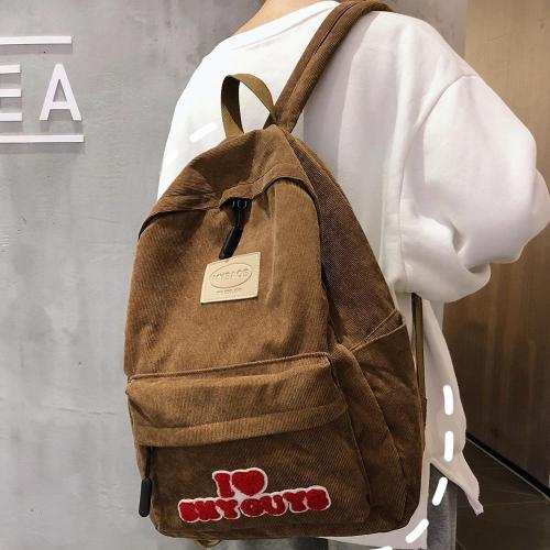 Cute Stripe Vintage Backpack Corduroy Women School Bag Teenage Girl Harajuku Backpack kawaii Female Fashion Bag Lady Luxury Book
