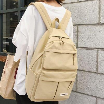 Student Female Multi Pocket Backpacks Cute Nylon Women School Bags Girl Fashion Backpack Kawaii Travel Book Bag Teenage 2019 New