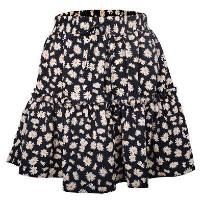 Foridol Floral Mini Skirt Women Ruffle Chic Casual Beach Skirt Summer 2020 High Waist Holiday Short Skirt Faldas
