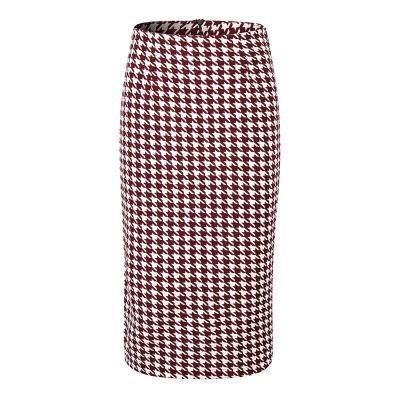 Houndstooth Print Pencil Skirt Official Bodycorn Skirt Plus Size Split Midi Skirt Summer Warp Skirt Zipper Korean Vintage Sexy