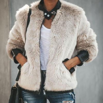 Fur Jackets 2020 New Fashion Women Faux Fur Coat Biker Streetwear Teddy Bear Pocket Fleece Jacket Zip Up Outwear Women Clothes