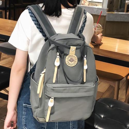 Student Female Multi Pocket Backpacks Cute Waterproof Nylon Women School Bags For Girls Fashion Backpack Kawaii Lady Bag Teenage
