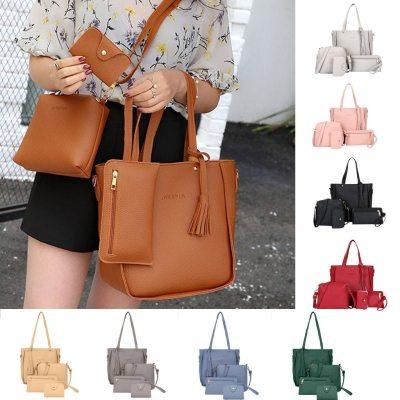 Woman Leather Handbags 2020 British Fashion Four-piece Portable Casual Shoulder Bag Messenger Mulit Style New Trend Handbag #BL2