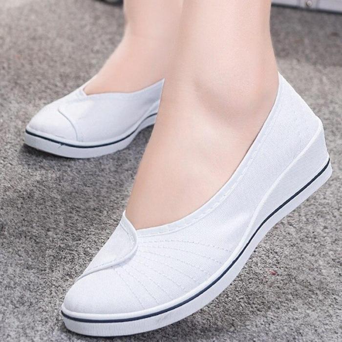 Flats women shoes platform shallow cotton nurse shoes soft non-slip casual style slip-on female shoes big size 4-9 flats