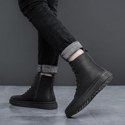 Warm Men Boots Winter Waterproof Genuine Leather Ankle Boots Outdoor Plush Working Snow Boots Men's Shoes