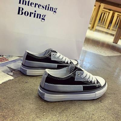 Women Canvas Shoes Platform Chunky Sneakers Black Fashion Vulcanized Shoes Tennis Female Casual Shoes Woman Lace Up Sneaker 2020