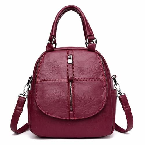 2020 Small Leather Backpacks For Girls Sac A Dos Multifunction Female Backpack High Quality Vintage Bagpack Ladies Mochilas New