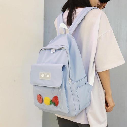 Fashion Waterproof Backpack Transparent Cute Women School Bag Teenage Girl Nylon Kawaii Backpack Plastic Ladies Student Bag Book