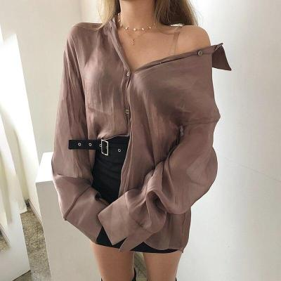 Spring Autumn Korean Retro Fashion Mid-length Shirts Blouses+back Large Bow Chest Vest Two Piece Sets Women New Streetwear 2020