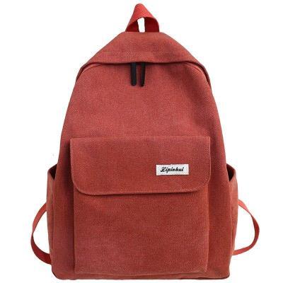 Student Female Kawaii Backpack Canvas Women Vintage School Bag Teenage Girl Cute Backpack Fashion Ladies Luxury Bags Cotton Book