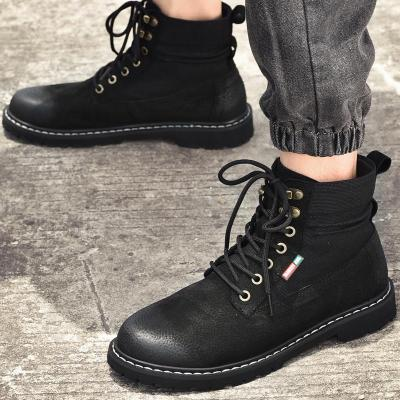 High Quality Boots Men Ankle Winter Shoes Handmade Outdoor Working Leather Boots Vintage Style Men Waterproof Warm Shoes 2020