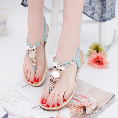 Summer shoes woman 2020 new fashion plus size summer women sandals Classic rhinestone 35-42 women shoes flat sandals