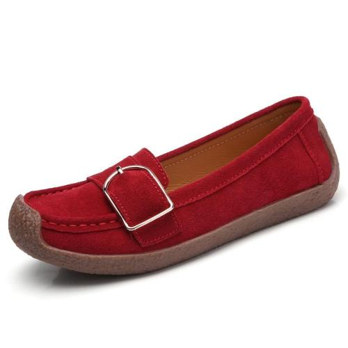 plardin Ballerina Flat Shoes Women Suede Leather Slip on Loafers Flat Ladies Moccains Fringe Soft Comfortable Flats Women
