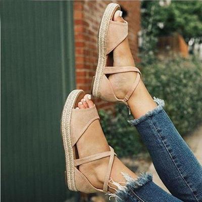 2020 New Women Sandals Fashion Peep Toe Design Sandals Women Flat Shoes Summer Beach Ladies Shoes Sandals