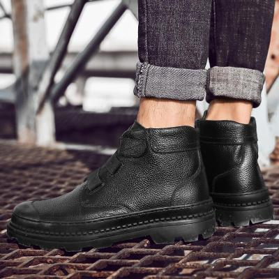 2020 Fashion Men's Boots Male Ankle Shoes Luxurious Brand England Leather Men Boots Dress Shoes Party Wedding Casual Flats