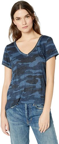 Lucky Brand Women's Camo Burnout Tee Shirt