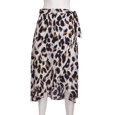 Foridol Leopard Long Skirt Women Casual Wrap Beach Skirt Summer 2020 High Waist Holiday Midi Skirt Faldas