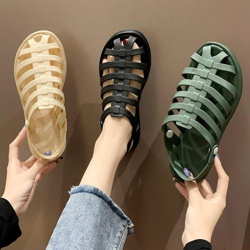 Women Flat Sandals Summer Fashion Casual Women's Slippers Non Slip Woman Beach Shoes Ladies Two Wear Comfort Female New