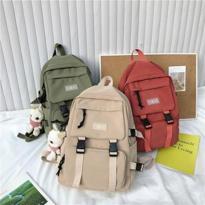 Women Waterproof Buckle Backpack Nylon Student Cute School Bag Girl Female Kawaii Backpack Laptop Fashion Book Bag Ladies Luxury