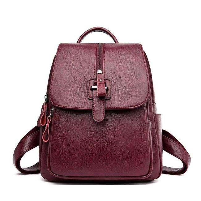 Women Leather Backpacks High Qaulity 2020 Large Capacity Travel Bagpack Female Casual Daypack School Bags For Girls Sac A Dos