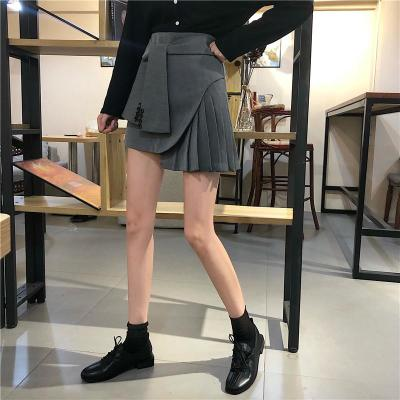 Knotted Belt Korean Pleated Skirts Clubwear Harajuku Short Mini Skirt Irregular High Waist Lace Up Design Summer Streetwear W424